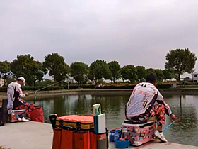 速抜哥钓鱼比赛前对鱼情试钓准备
